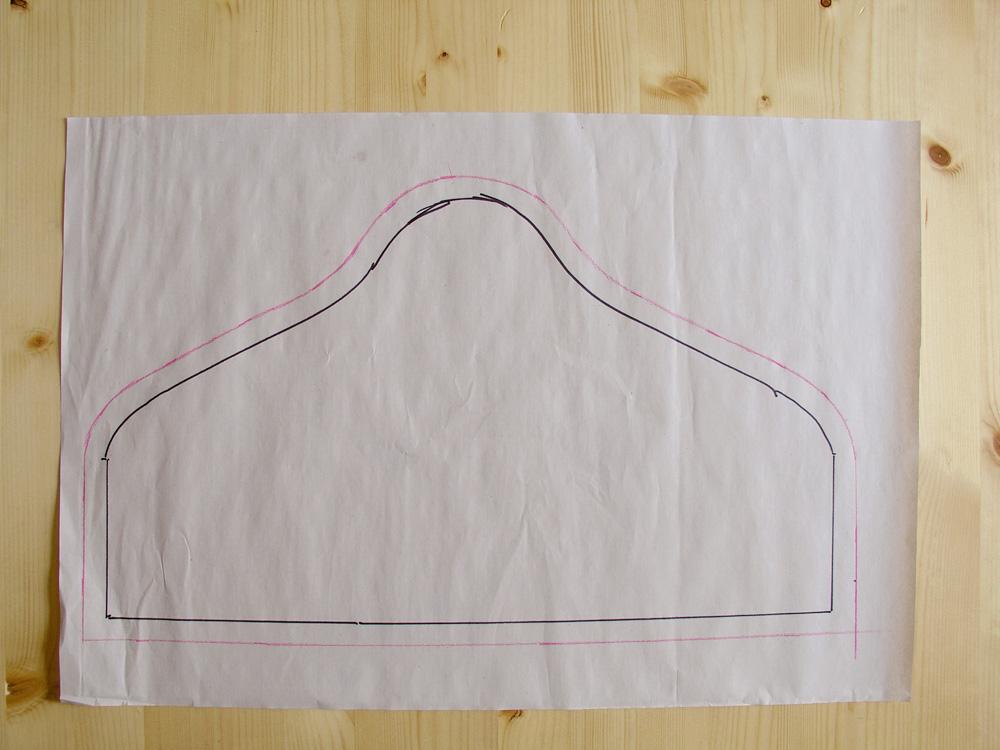 Añadir margen de costura al patrón de la funda