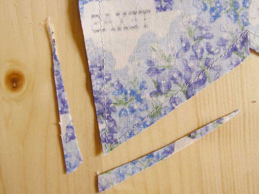 Rebajar margen de costura de las piezas