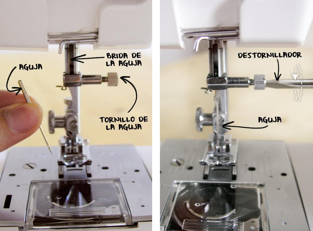 Cambiar la aguja de la máquina de coser