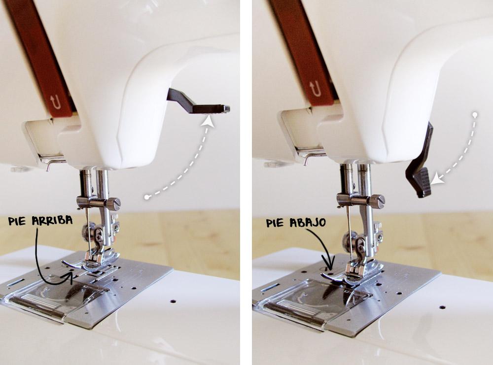 Palanca del prensatelas de la máquina de coser