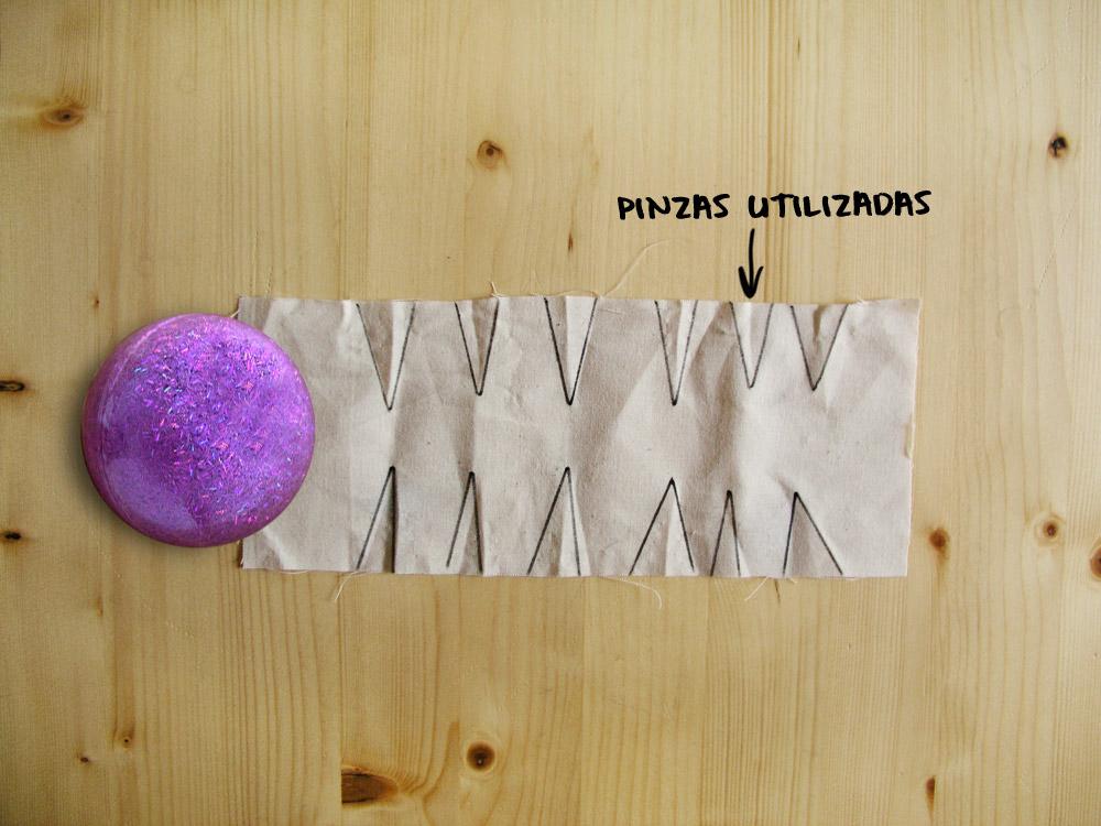 Pinzas utilizadas en tejido a la plana