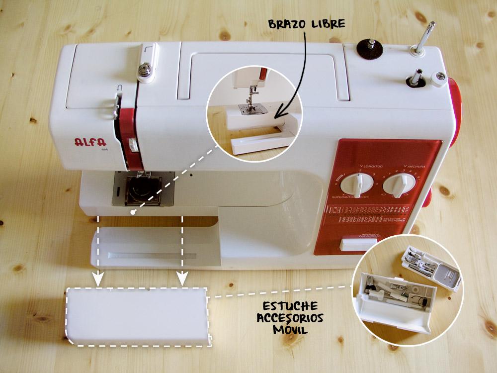 Brazo libre de la máquina de coser