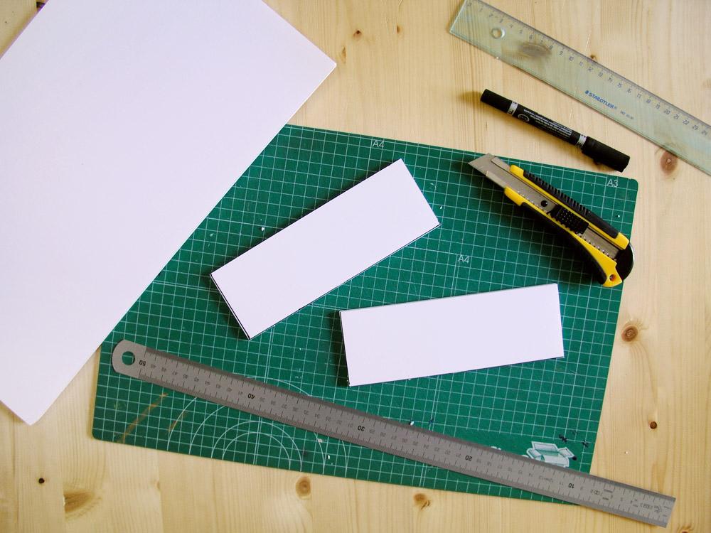 Piezas cortadas de cartón pluma