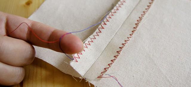 Acabado de costura en zigzag