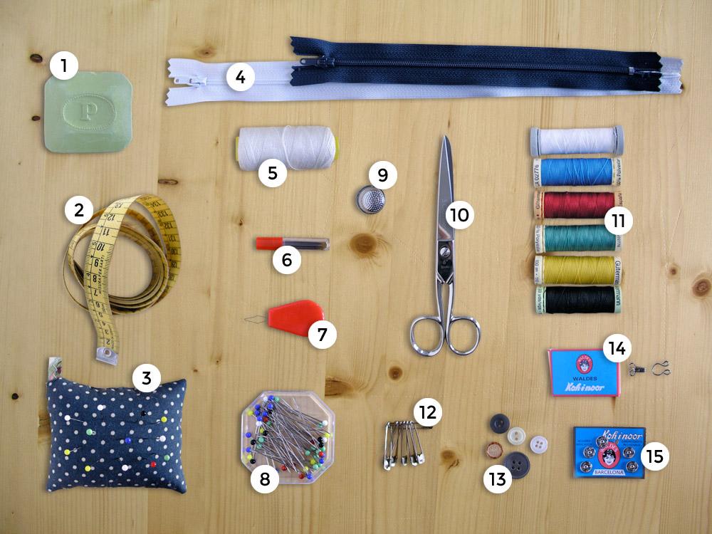 Material básico de costura