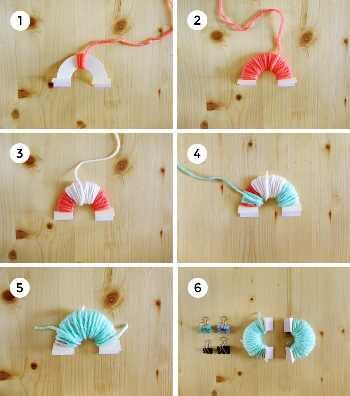 Pasos para enrollar la lana de un pompón