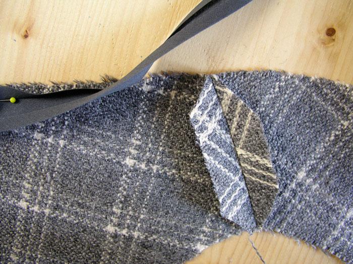 Rebajar los márgenes de costura