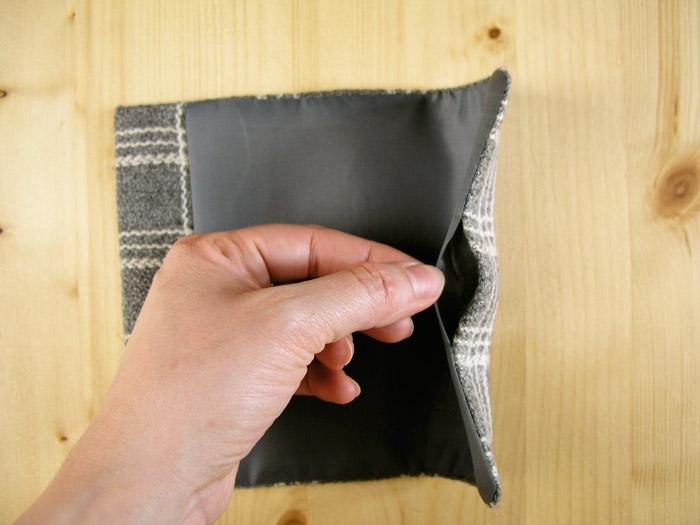 Planchar márgenes de costura de la abertura