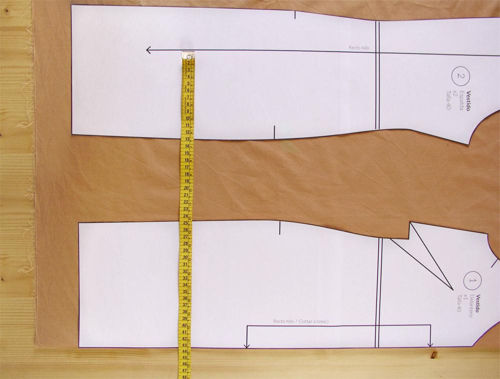 Medir el recto hilo en cada pieza