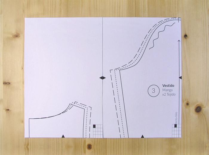 Unir las hojas del patrón PDF por los piquetes