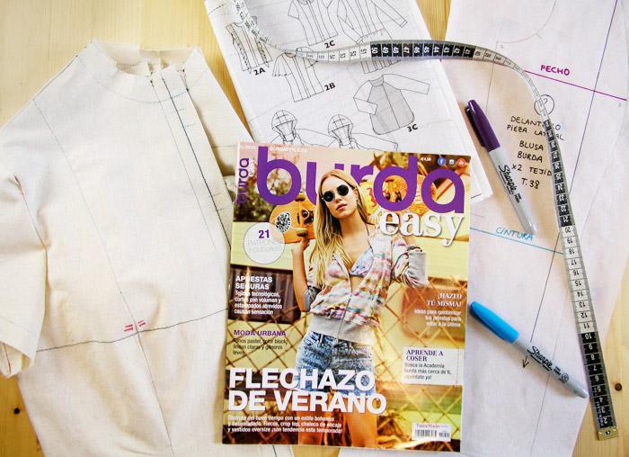 Prototipo de modelo de la revista Burda Easy