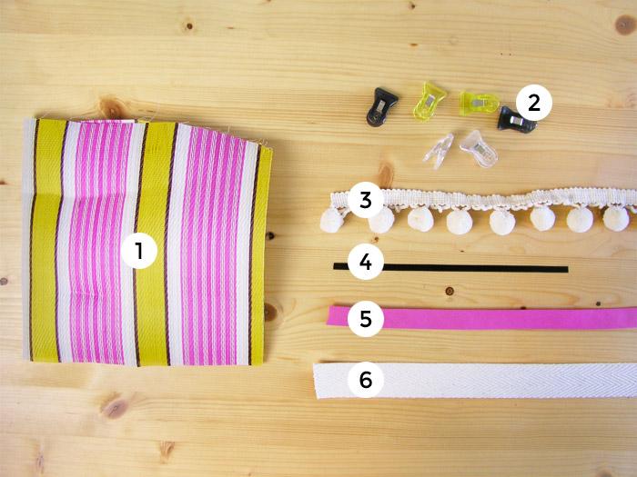 Materiales para hacer bolsa de rafia retro | Betsy