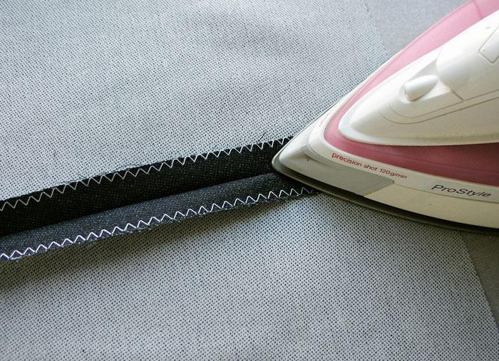 Abrir costura con la plancha.