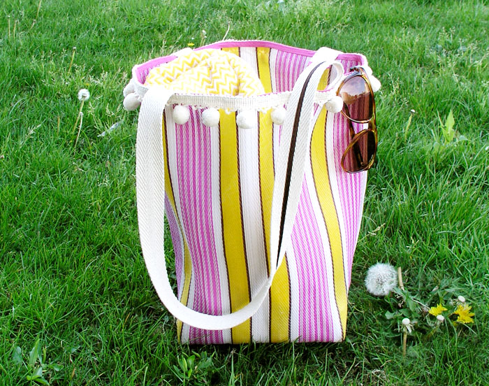 Bolsa de rafia retro | Betsy Costura