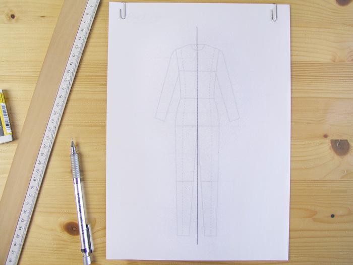 Marcar la línea central|Dibuja tu moda con Betsy