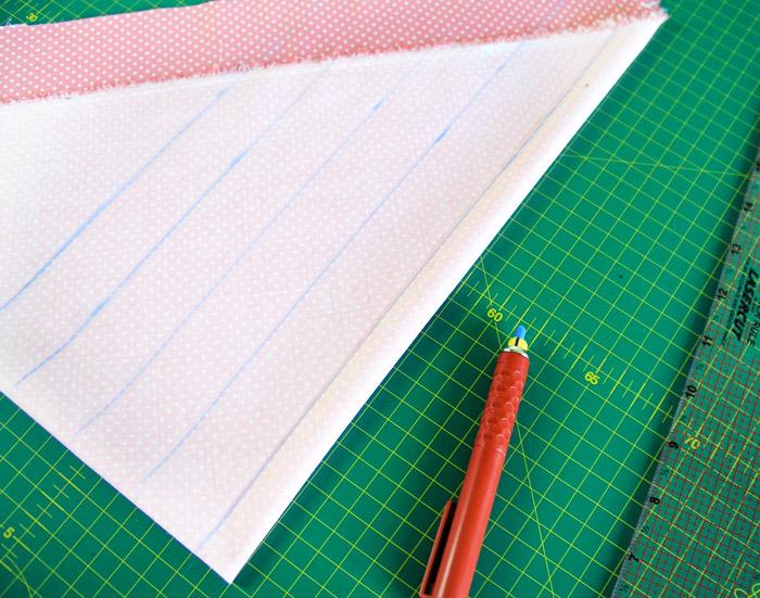 Marcar el ancho de las tiras al bies | Betsy Costura