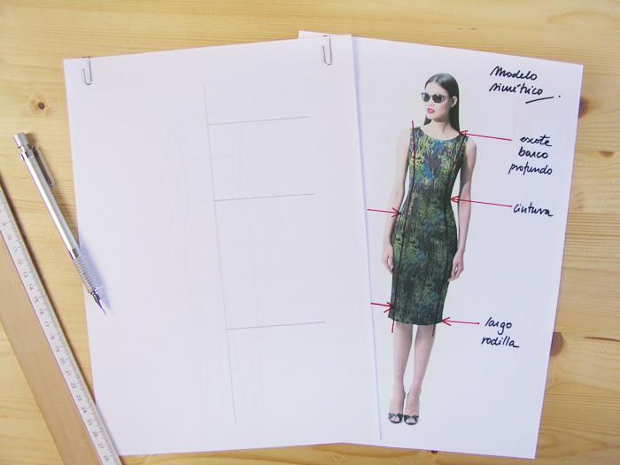 Marcar las líneas maestras|Dibuja tu moda con Betsy