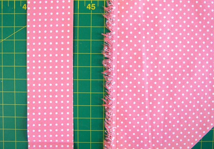 Tiras al bies cortada versus tejido original al recto hilo | Betsy Costura