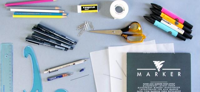 Dibuja tu moda: Día 1Materiales para dibujar