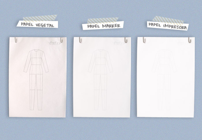 Dibuja tu moda d a 1materiales para dibujar betsy costura - Papel para dibujar ...