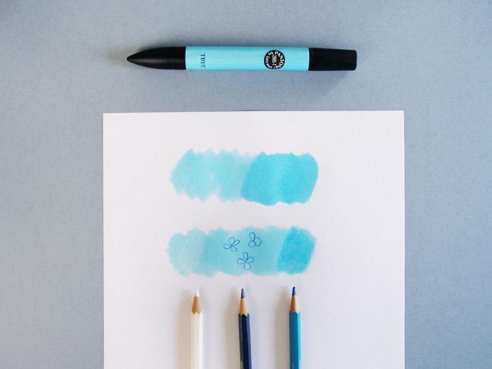 Rotulador de ilustración y lápices acuarelables   Betsy Costura