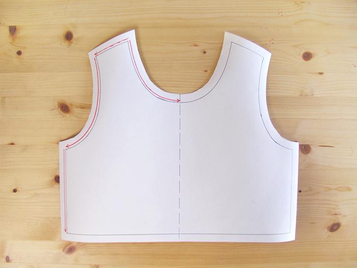 Patrón-plantilla para estabilizar costuras  Betsy Costura