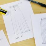 """<span class=""""page-header-pre-title"""">Dibuja tu moda: Día 3</span><br />Tinta y formas de falda"""