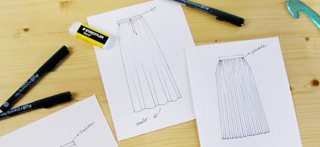 Dibuja tu moda: Día 3Tinta y formas de falda