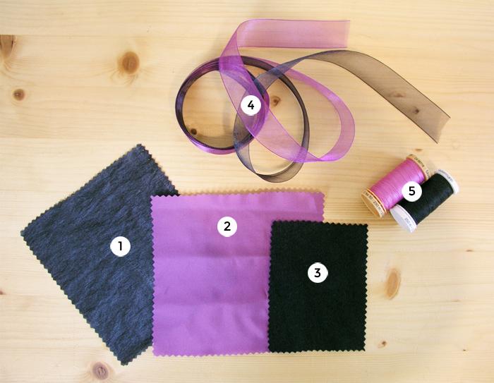 Materiales para hacer la capa de Halloween | Betsy Costura
