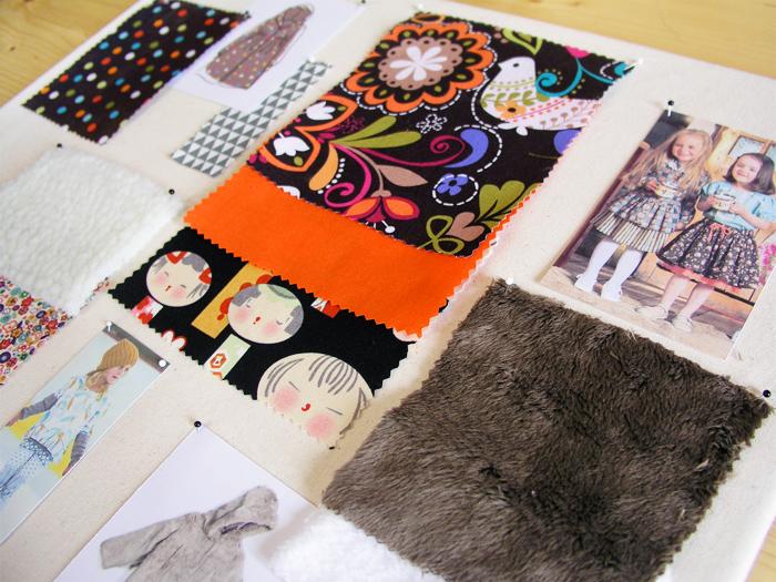 Combinación de texturas y colores en el moodboard inspiracional | Betsy Costura