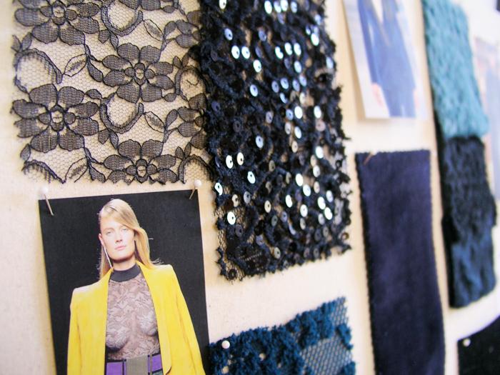 Muestras de tejidos de blonda y con brillos | Betsy Costura