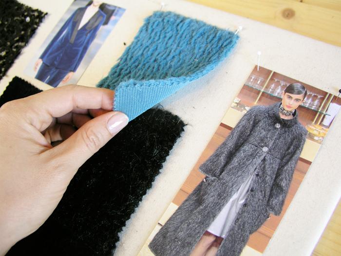 Tacto y valoración de tejidos del moodboard | Betsy Costura