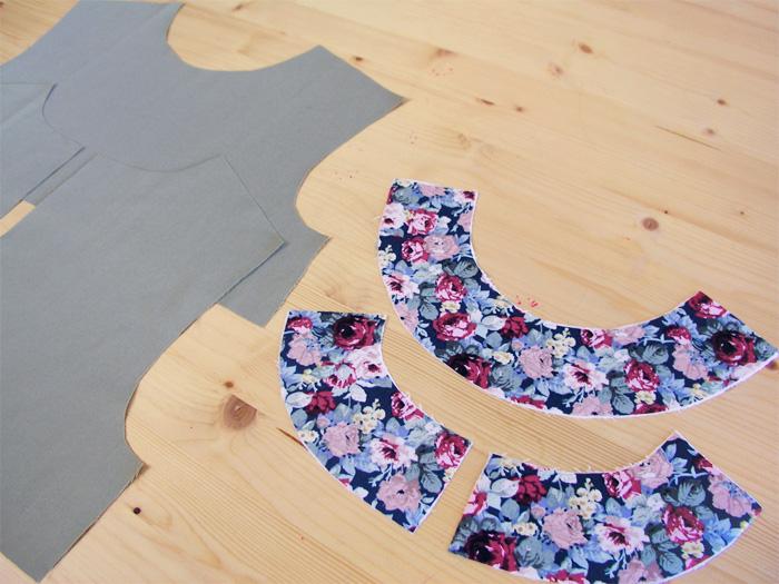 Vistas cortadas en tejido estampado | Betsy Costura