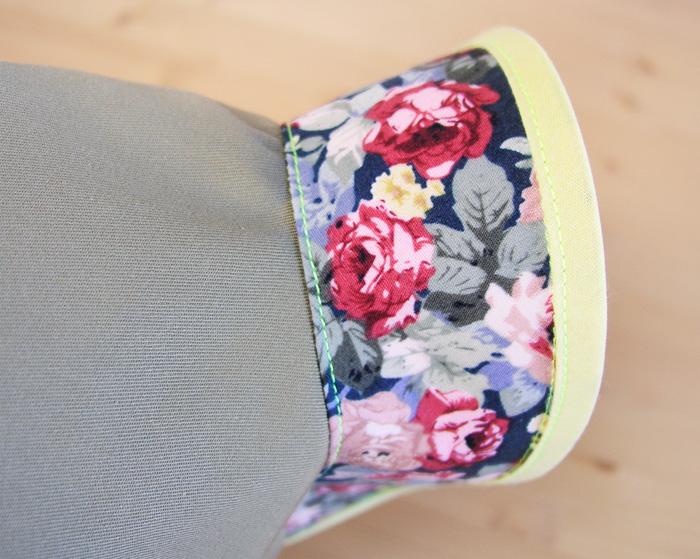 Resultado de coser el pespunte para asegura los márgenes de costura hacia la zona de la vista | Betsy Costura