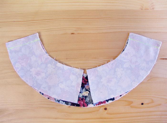 Vistas cosidas con pespunte recto en las líneas de hombro | Betsy Costura