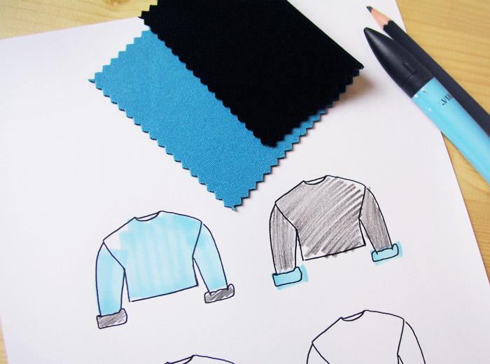 sudaderas neopreno reversible negro azul turquesa