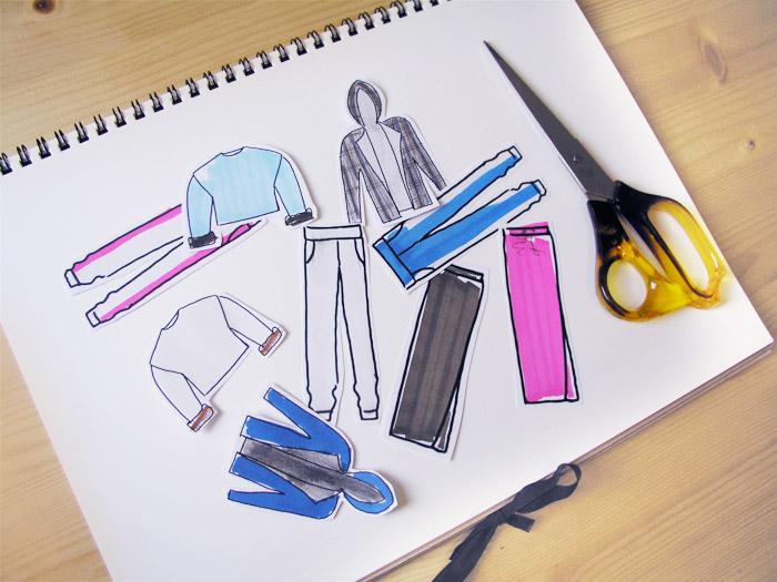 dibujos ilustraciones moda sketch boceto neopreno tejiidos recortable