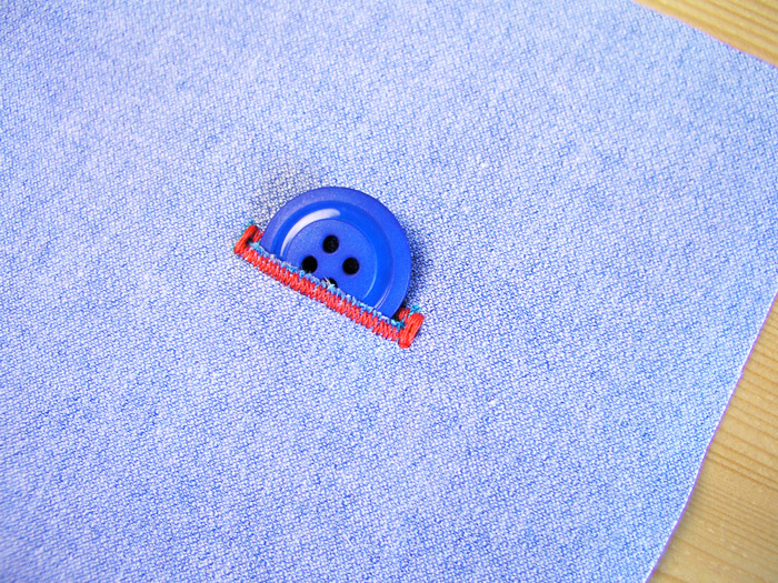 ojal ojales máquina de coser botón prueba