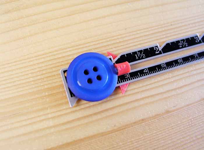 regla medir diámetro medida botón