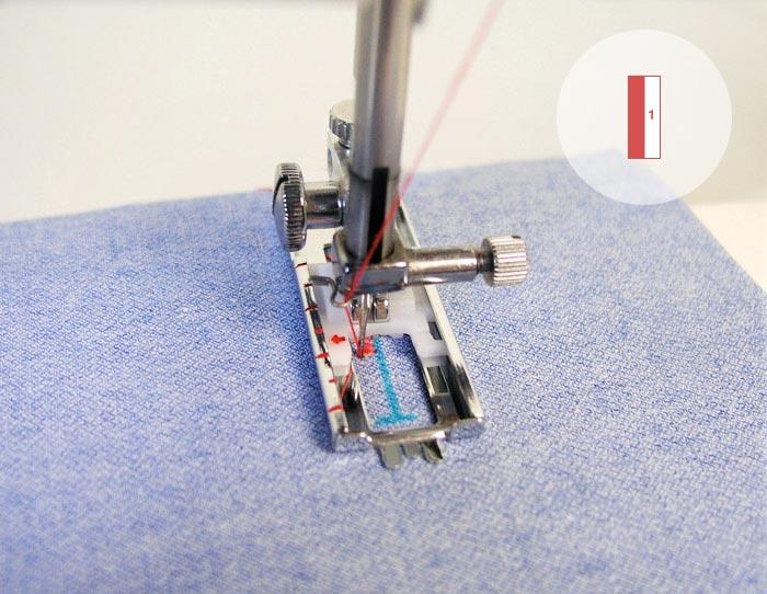 ojal ojales máquina de coser pasos