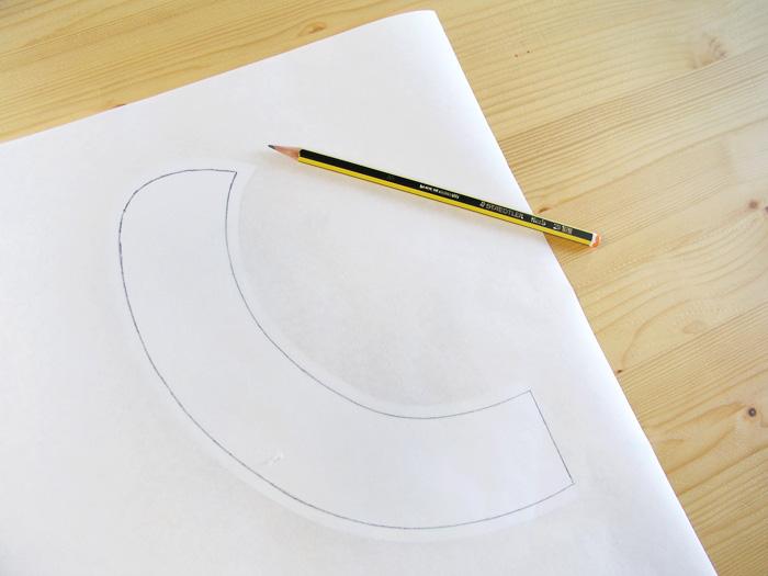 Patrón calcado sin márgenes de costura en el freezer paper | Betsy Costura