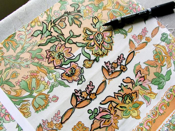 Calcar estampado en papel de acetato | Betsy Costura