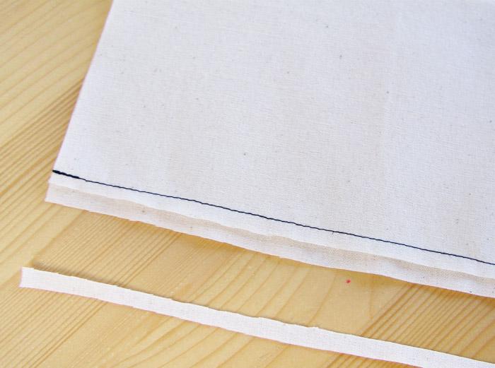 Uno de los márgenes de costura cortado a la mitad | Betsy Costura