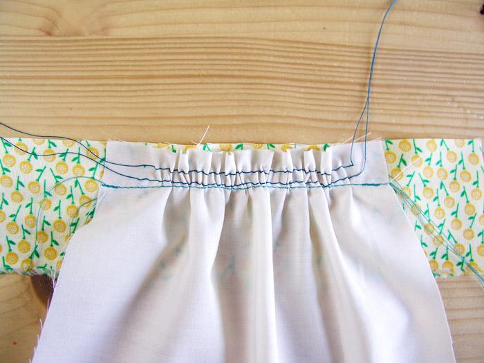 Fruncido cosido a la banda de tejido a máquina | Betsy Costura