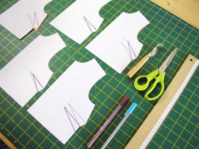 Posición de las pinzas de pecho | Betsy Costura
