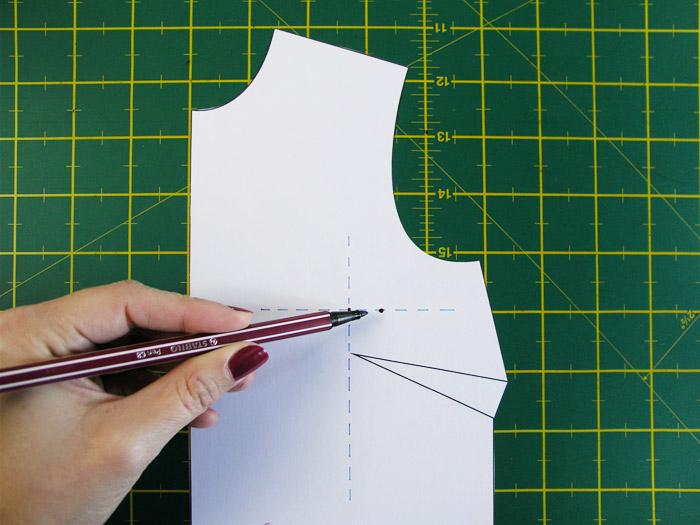 Marcar la nueva posición de la pinza | Betsy Costura