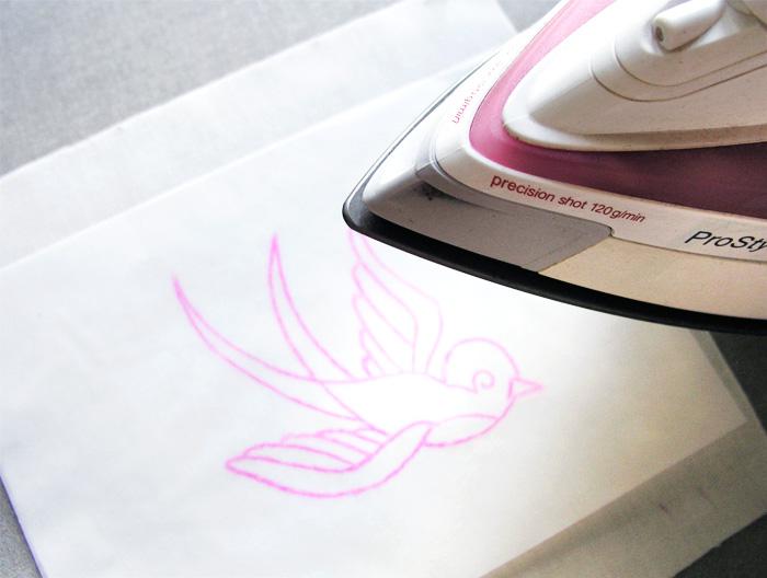 Planchar el dibujo en el tejido   Betsy Costura
