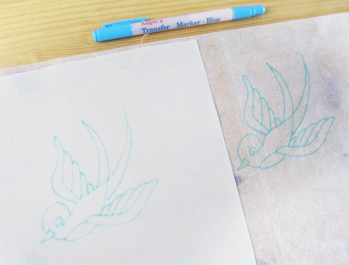 Resultado del bolígrafo para traspasar dibujos | Betsy Costura
