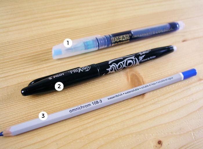 Bolígrafo, rotulador y lápiz para marcar en la costura | Betsy Costura
