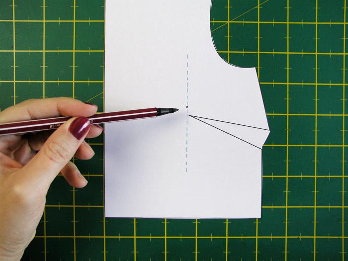 Marcar la nueva altura de pecho | Betsy Costura